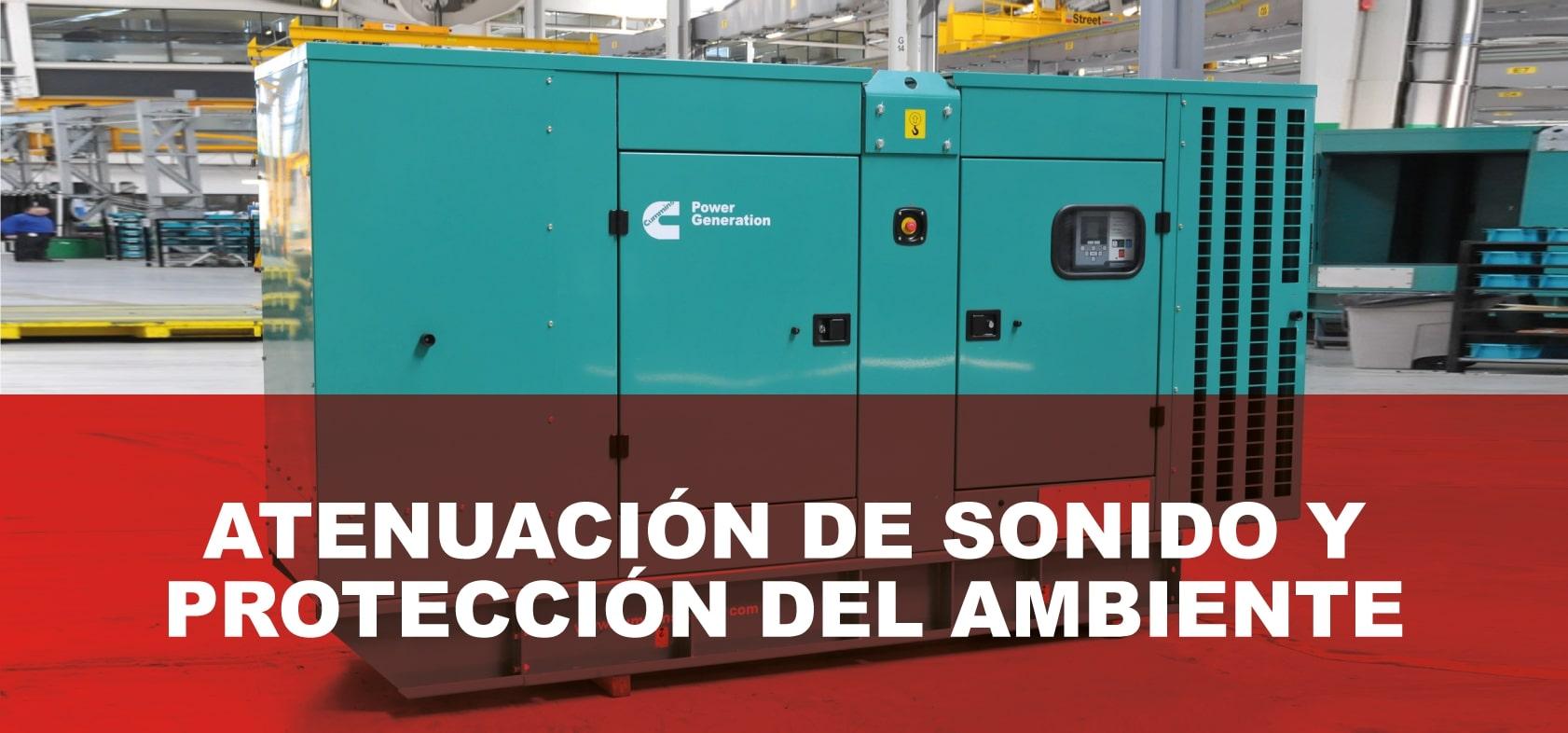 atenuación de sonido y protección del ambiente en plantas eléctricas Cummins